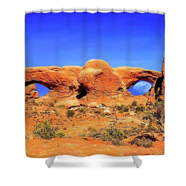 Arches Moon Eye Shower Curtain