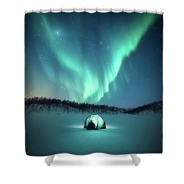 Arctic Camping Shower Curtain
