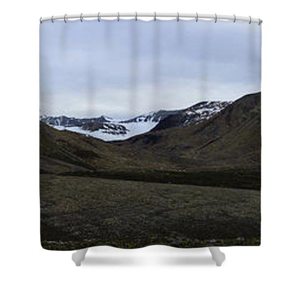 Arctic Mountain Landscape Shower Curtain