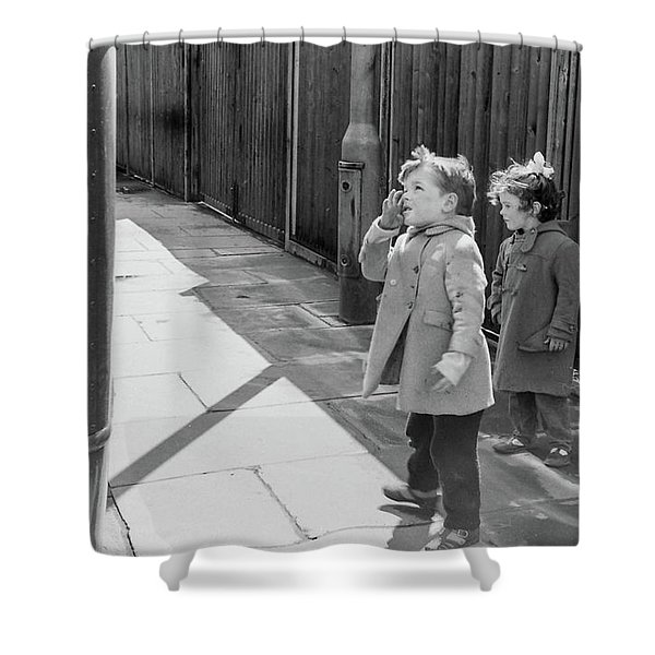 Are You Going To My House? Shower Curtain