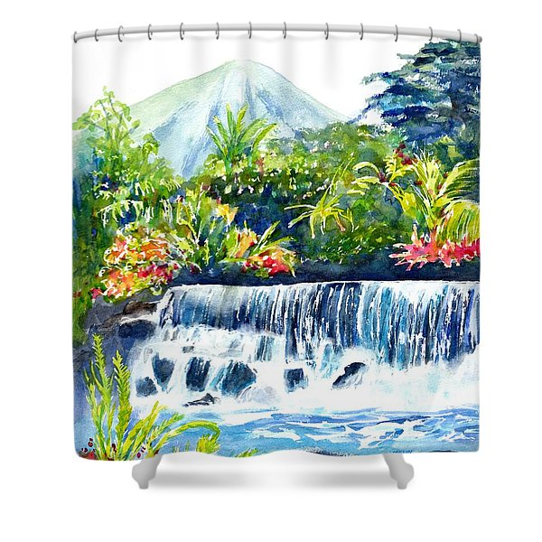 Arenal Volcano Costa Rica  Shower Curtain