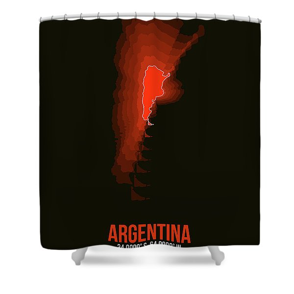Argentina Radiant Map 3 Shower Curtain