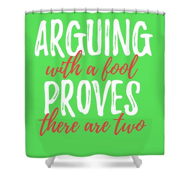 Arguing Shower Curtain