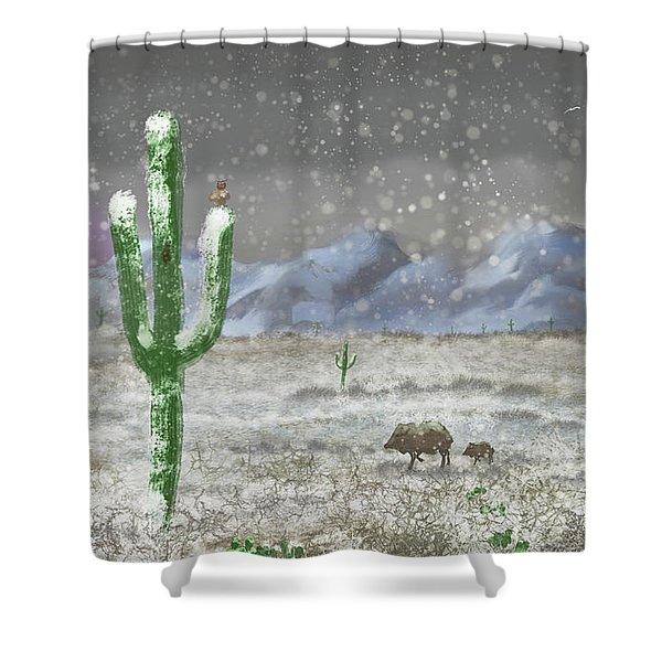 Arizona Blizzard Shower Curtain
