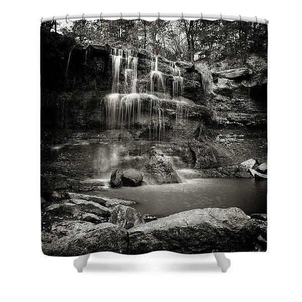 Rock Glen Falls Shower Curtain