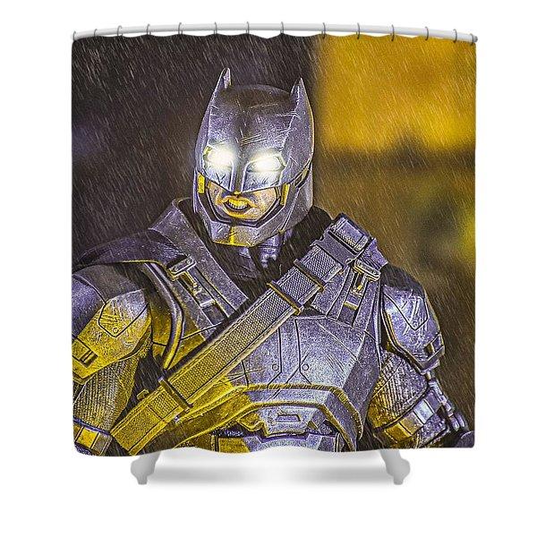 Armored Bat Shower Curtain