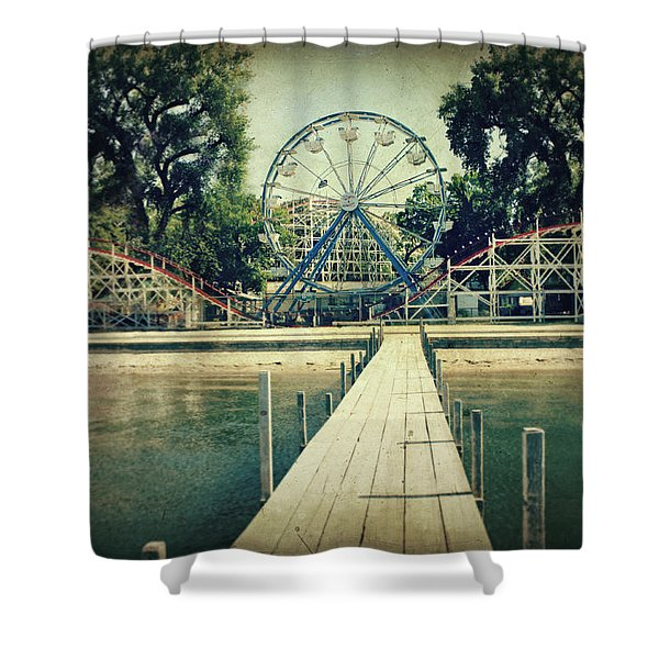 Arnolds Park Shower Curtain