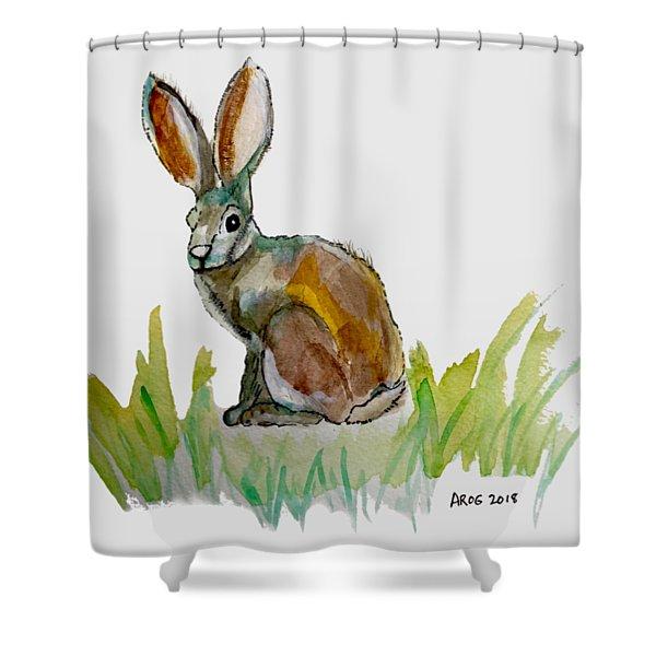 Arogs Rabbit Shower Curtain