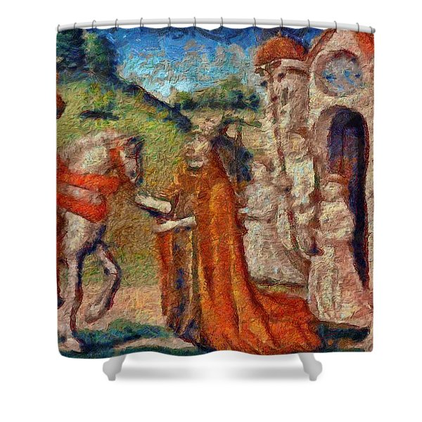 Art Medieval Shower Curtain