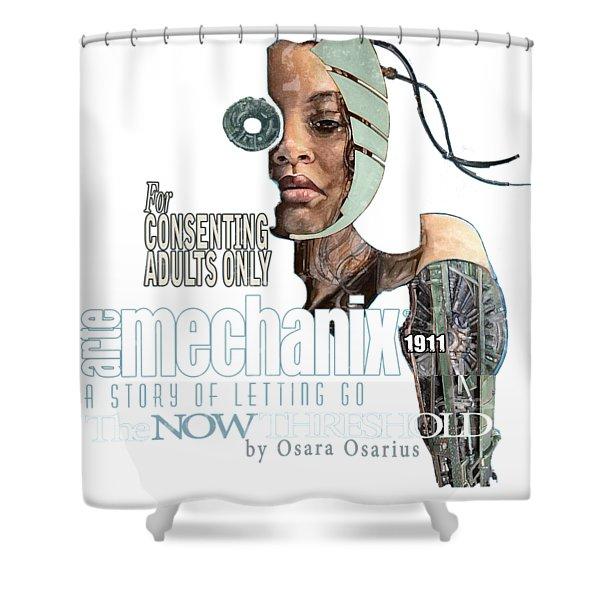 arteMECHANIX 1911 The NOW THRESHOLD  GRUNGE Shower Curtain