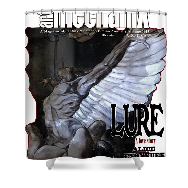 arteMECHANIX 1915 LURE GRUNGE Shower Curtain