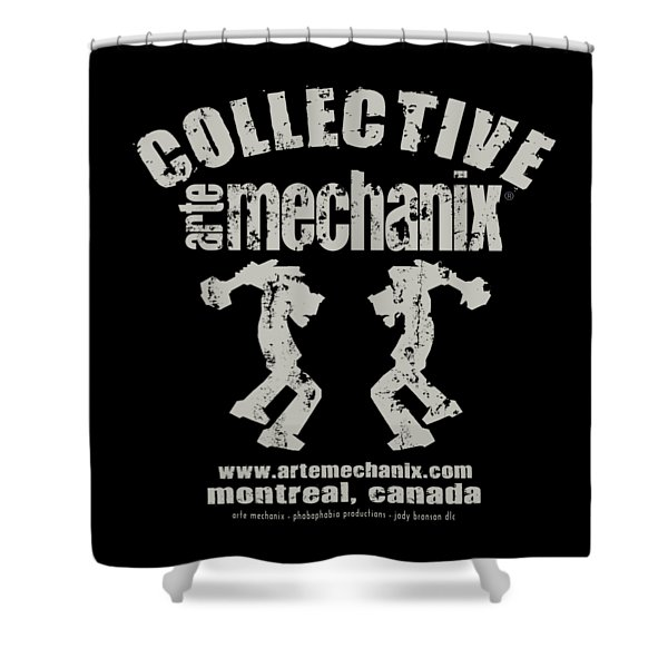 arteMECHANIX COLLECTIVE GRUNGE Shower Curtain