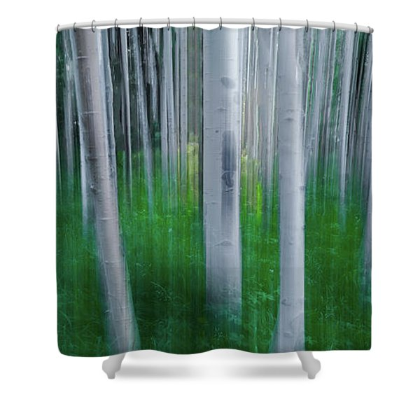 Artistic Aspens Panorama Shower Curtain
