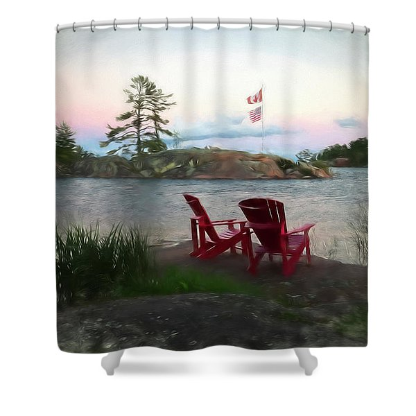 Artistic Evening On The Bay Shower Curtain