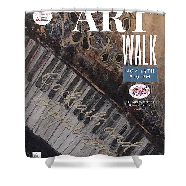 Artwalk Art Show Scottsdale  Shower Curtain