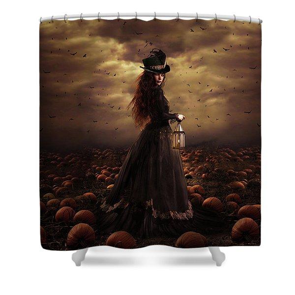 The Pumpkin Patch Shower Curtain