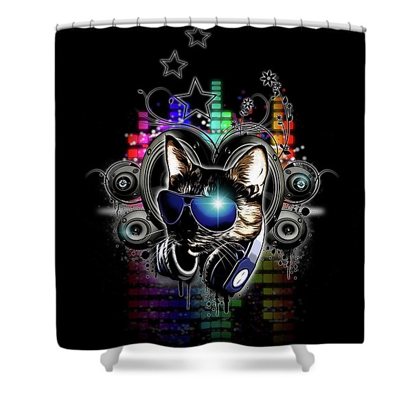Drop The Bass Shower Curtain