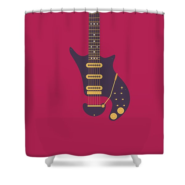 Red Special Guitar - Burgundy Shower Curtain