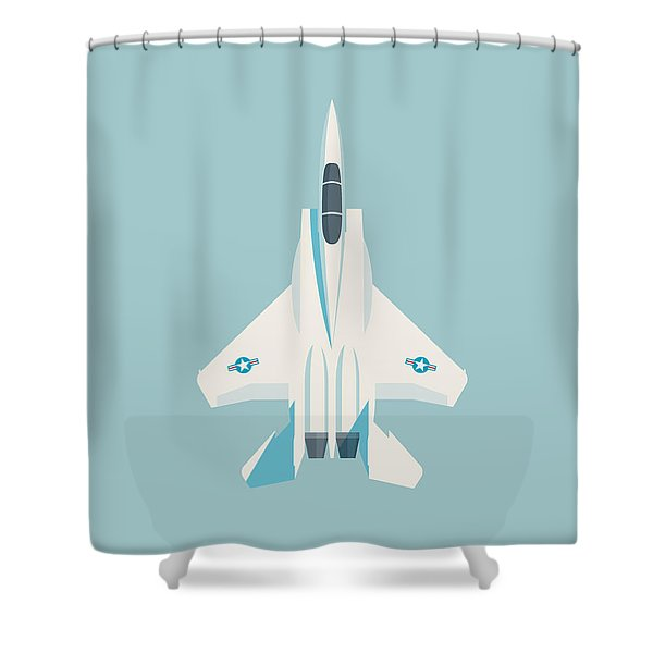 F15 Eagle Fighter Jet Aircraft - Sky Shower Curtain