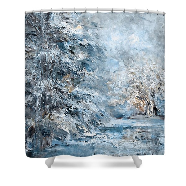 In The Snowy Silence Shower Curtain