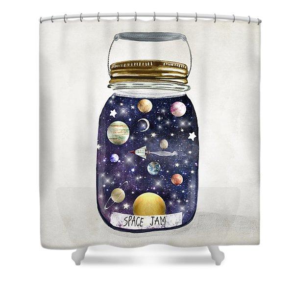 Space Jam Shower Curtain