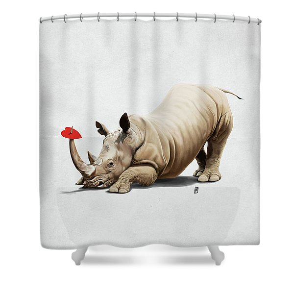 Horny Wordless Shower Curtain