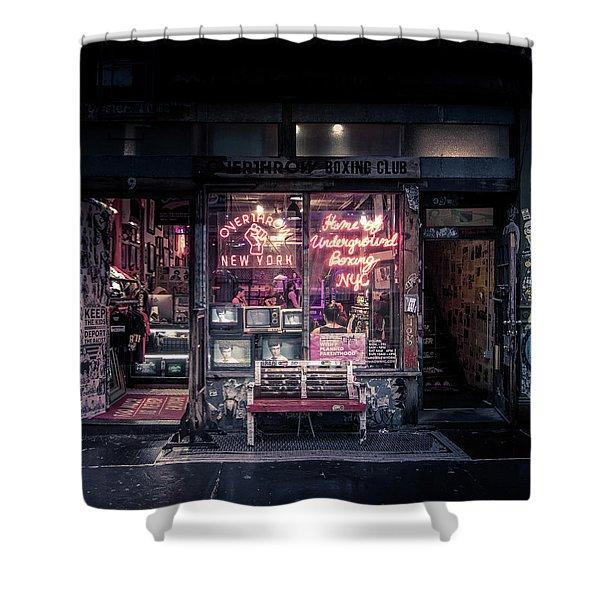 Underground Boxing Club Nyc Shower Curtain
