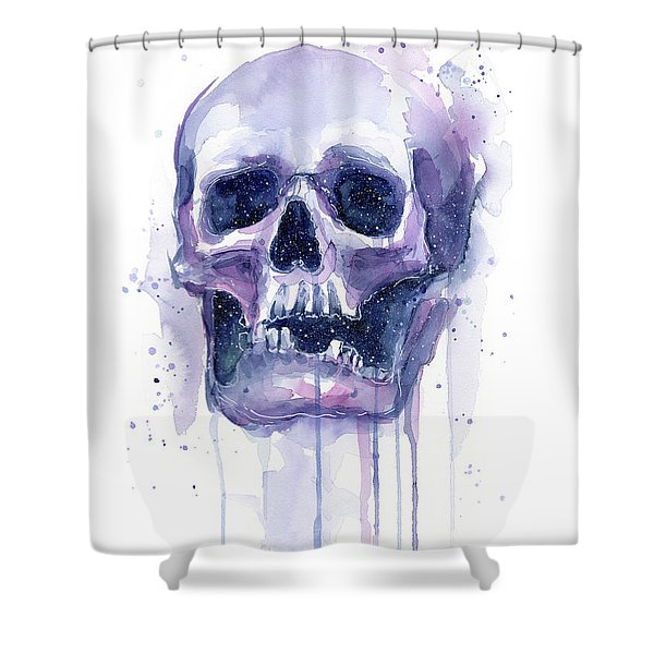 Skull In Space Shower Curtain
