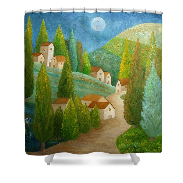 All Is Calm All Is Bright Shower Curtain