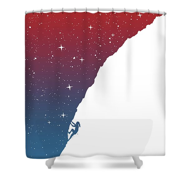 Night Climbing II Shower Curtain
