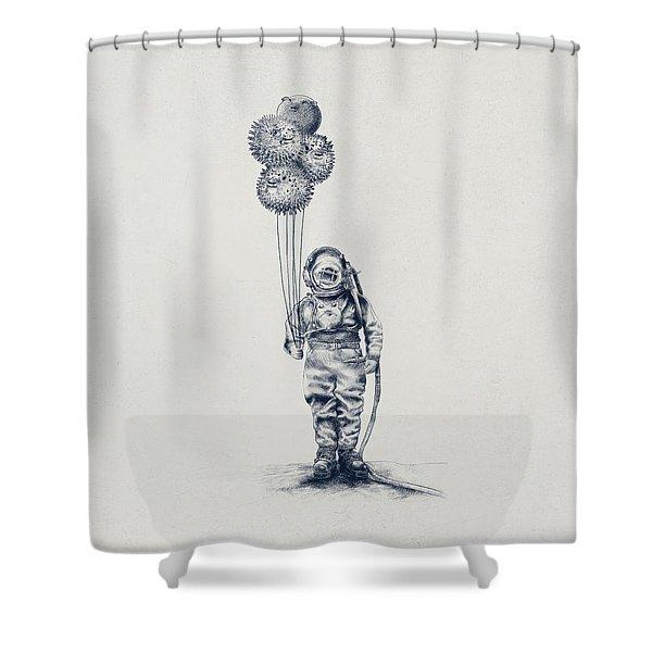 Balloon Fish Option Shower Curtain