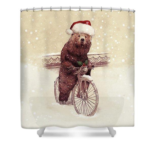 A Barnabus Christmas Shower Curtain