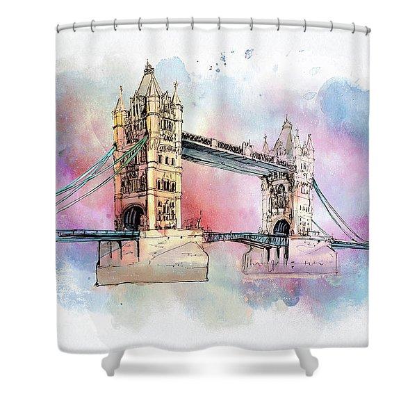 London Bridge Shower Curtain