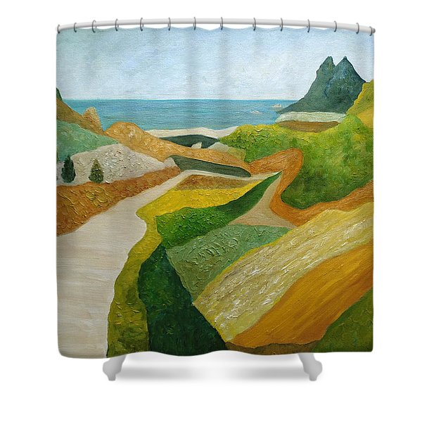 A Walk Down To The Sea Shower Curtain