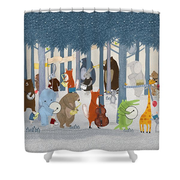 Little Nature Parade Shower Curtain