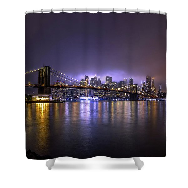 Bright Lights Of New York II Shower Curtain