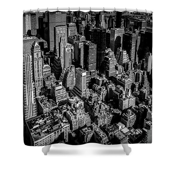 Manhattan Rooftop View Shower Curtain