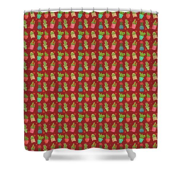Cactus Friends Shower Curtain