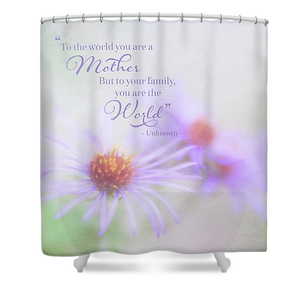 Asters For Mother's Day Shower Curtain
