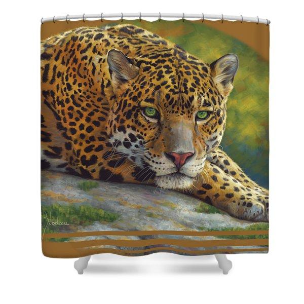 Peaceful Jaguar Shower Curtain