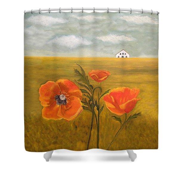 Springtime Storm Shower Curtain