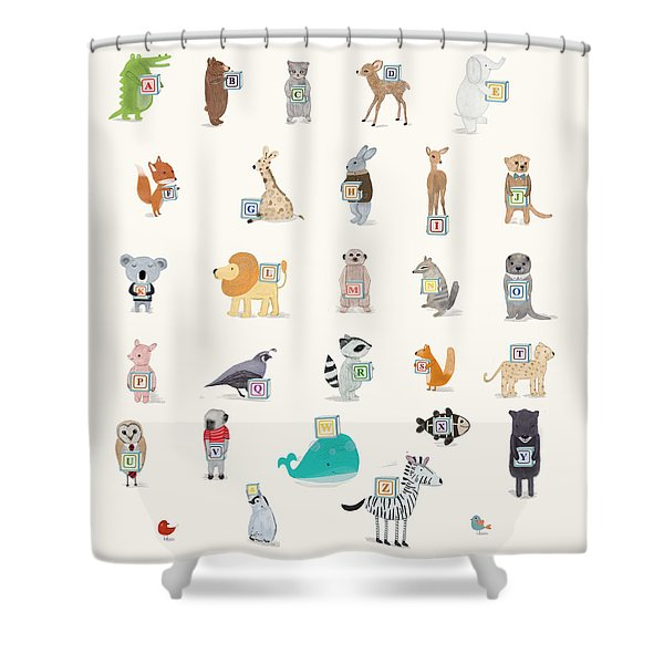 Little Alphabet Shower Curtain by Bri Buckley