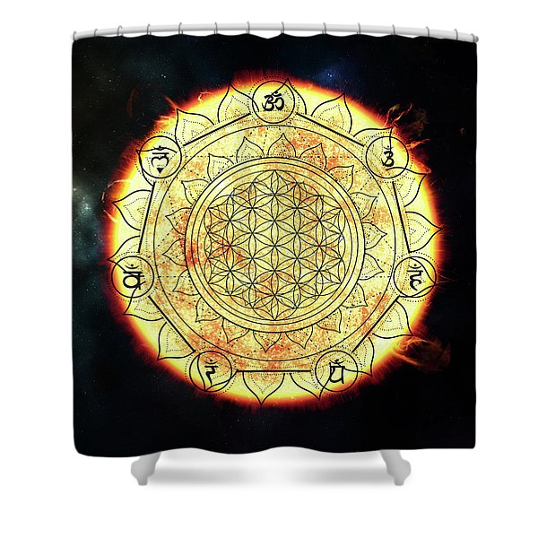 Shower Curtain featuring the digital art Creative Force by Bee-Bee Deigner