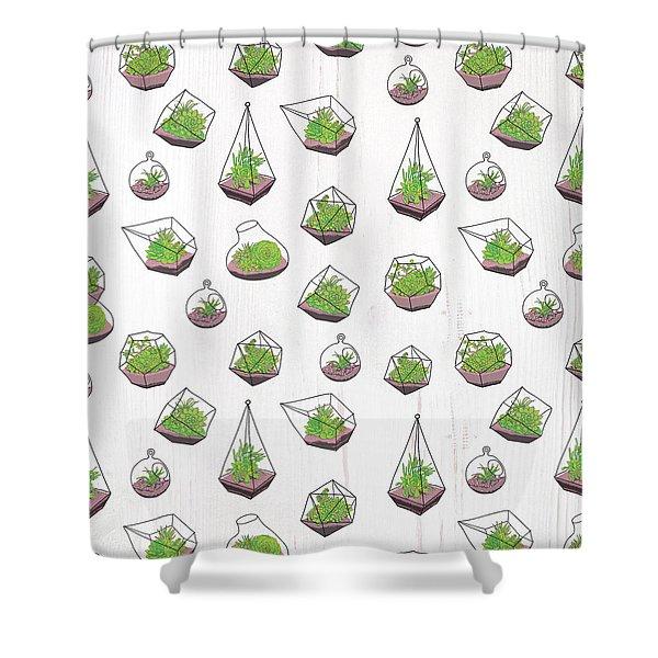 Terrariums Shower Curtain