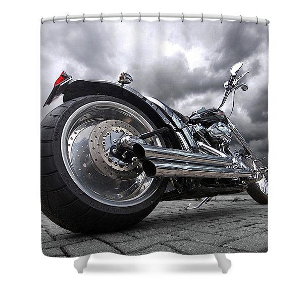 Storming Harley Shower Curtain