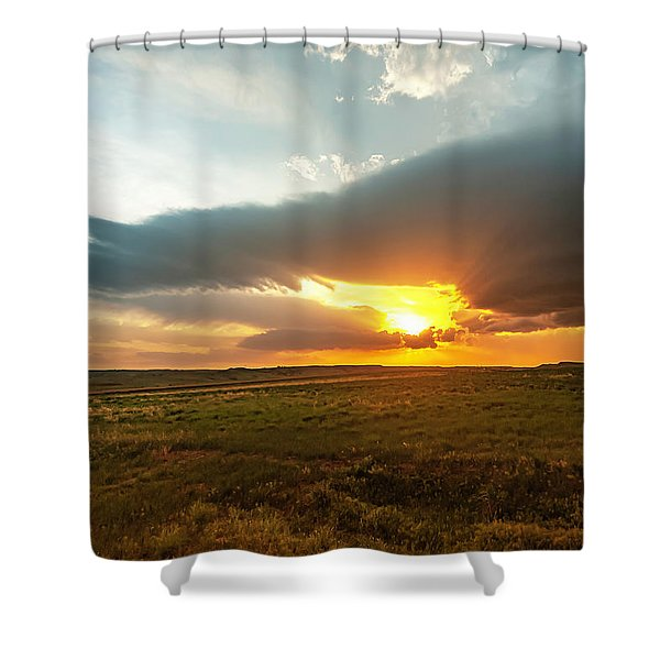 As The Sun Is Setting Shower Curtain