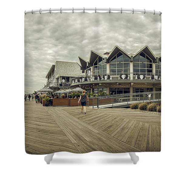 Asbury Park Boardwalk Looking South Shower Curtain