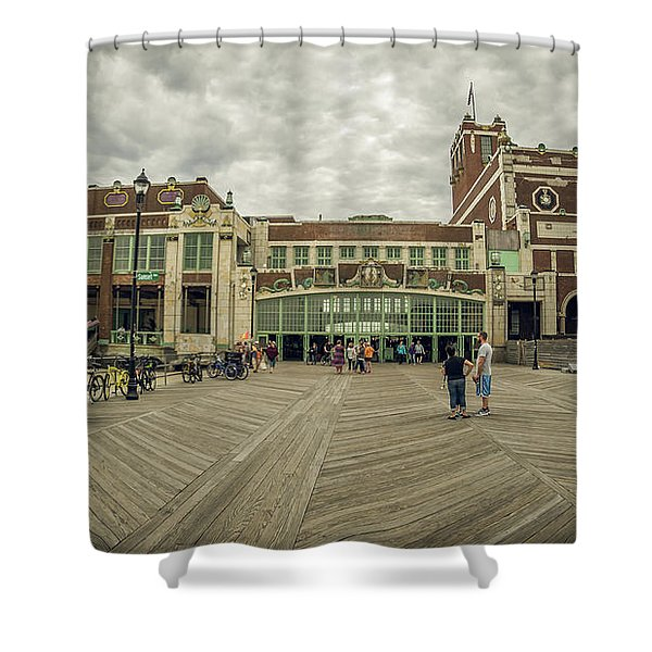 Asbury Park Convention Hall Shower Curtain