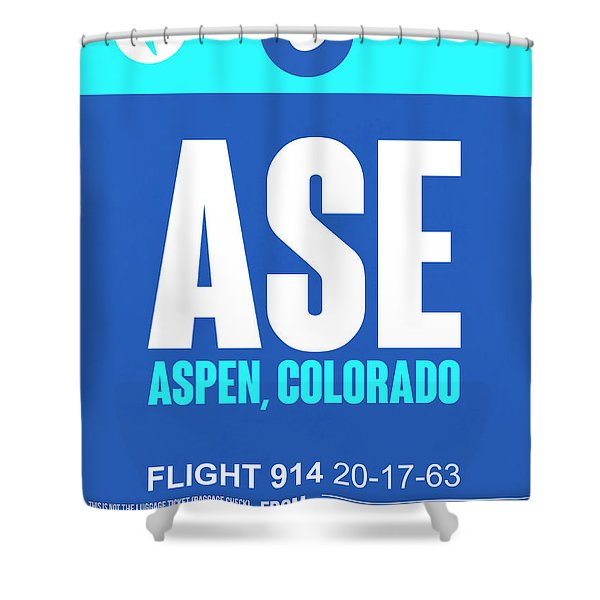 Ase Aspen Luggage Tag II Shower Curtain