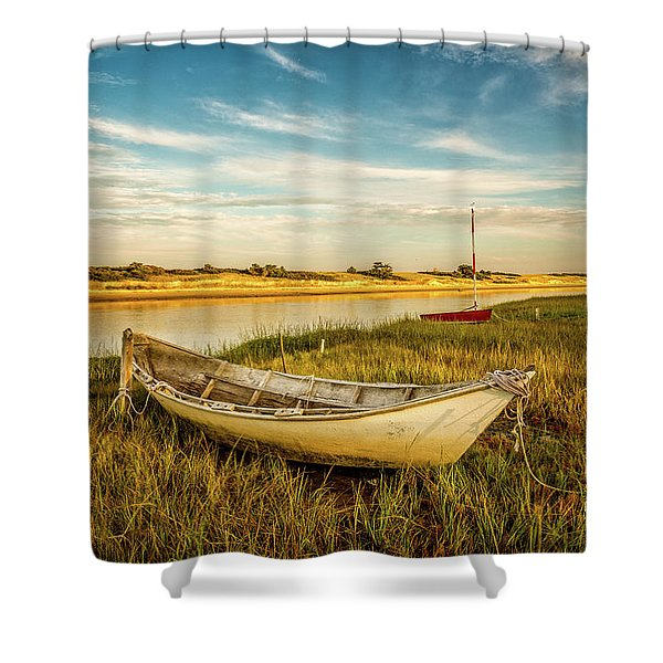 Shower Curtain featuring the photograph Ashore by Jeff Sinon